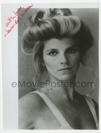 4x816 JENNIFER WARREN signed 7x9.25 REPRO still 1980s head & shoulders portrait with her hair up!