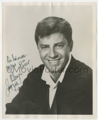 4x817 JERRY LEWIS signed 8x10 REPRO still 1969 smiling head & shoulders portrait of the comedian!