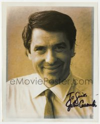 4x819 JOHN CASSAVETES signed 8x10 REPRO still 1970s head & shoulders portrait of the actor/director!
