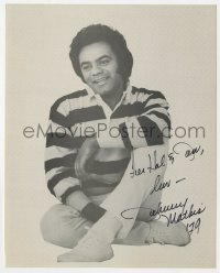 4x822 JOHNNY MATHIS signed 8x10 REPRO still 1978 great portrait of the Wonderful Wonderful singer!