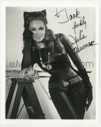 4x824 JULIE NEWMAR signed 8x10.25 REPRO still 1980s great portrait as Batman's sexy Catwoman!