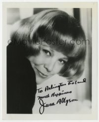 4x825 JUNE ALLYSON signed 8x10 REPRO still 1970s great smiling portrait with bobbed hair!