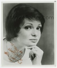 4x828 KAREN VALENTINE signed 8x9.75 REPRO still 1980s head & shoulders c/u of the pretty actress!
