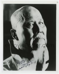 4x829 KEYE LUKE signed 8x10 REPRO still 1980s best close portrait as Master Po from TV's Kung Fu!