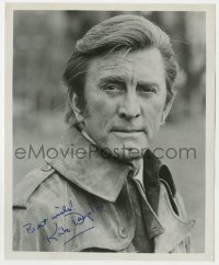 4x830 KIRK DOUGLAS signed 8x10 REPRO still 1980s portrait of the legendary star wearing jacket!