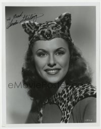 4x832 LINDA STIRLING signed 8x10.25 REPRO still 1980s head & shoulders close up as The Tiger Woman!