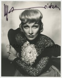 4x839 MARLENE DIETRICH signed 8x10 REPRO still 1980s waist-high portrait in cool lace dress!