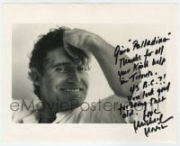4x843 MICHAEL NOURI signed 8x10 REPRO still 1980s great smiling portrait of the Damages star!