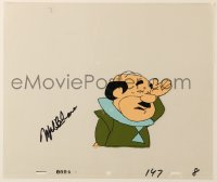 4x067 MEL BLANC signed animation cel 1985 by Mel Blanc, great image of Mr. Spacely from The Jetsons!