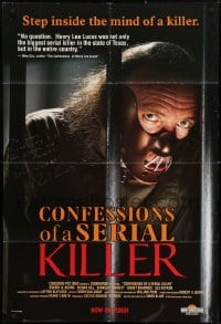 4x077 CONFESSIONS OF A SERIAL KILLER signed 27x40 video poster R1992 by Robert A. Burns, great c/u!