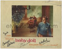 4x028 BABY DOLL signed LC #2 1957 by Karl Malden, Carroll Baker, AND Eli Wallach!