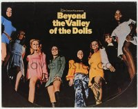 4x029 BEYOND THE VALLEY OF THE DOLLS signed TC 1970 by Russ Meyer, great portrait of the sexy stars!