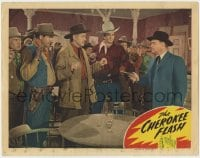 4x031 CHEROKEE FLASH signed LC 1945 by Sunset Carson, who's being held at gunpoint by John Merton!