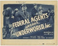 4x035 FEDERAL AGENTS VS UNDERWORLD INC signed chapter 2 TC 1948 by Kirk Alyn, Republic serial!