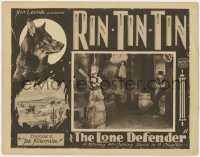 4x040 LONE DEFENDER signed chapter 2 LC 1930 by producer Nat Levine, canine hero Rin-Tin-Tin!