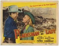 4x043 PLAINSMAN & THE LADY signed TC 1946 by Vera Ralston, who's with cowboy Wild Bill Elliott!