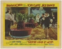 4x045 SOME LIKE IT HOT signed LC #2 1959 by BOTH director Billy Wilder AND star Tony Curtis!