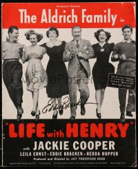 4x011 EDDIE BRACKEN signed pressbook 1940 when he was in Life with Henry with Jackie Cooper!