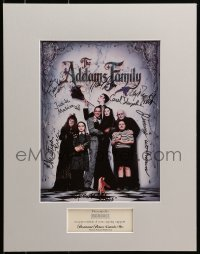 4x004 ADDAMS FAMILY signed screening program in 14x18 display 1991 by Julia, Huston, Ricci & 5 more!