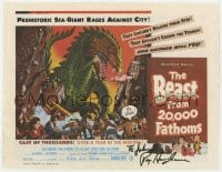 4x069 RAY HARRYHAUSEN/ANN ROBINSON 10x13 book page 2000s each signed on one side!