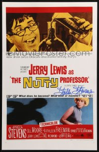 4x023 STELLA STEVENS signed 11x17 REPRO poster 2001 great one-sheet image from The Nutty Professor!