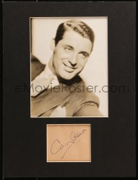 4x001 CARY GRANT signed 4x4 cut album page in 12x16 display 1930s ready to hang on your wall!
