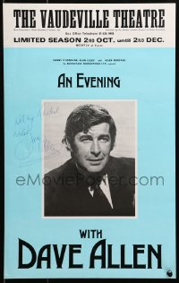 4x017 DAVE ALLEN signed English 13x20 stage poster 1978 appearing live at The Vaudeville Theatre!