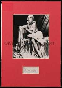 4x003 DIANA DORS signed 2x3 cut album page in 11x16 display 1960s ready to hang on your wall!