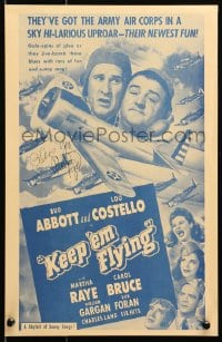 4x021 KEEP 'EM FLYING signed 11x17 REPRO poster 1970s by Martha Raye, who's w/ Abbott & Costello!