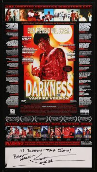 4x025 LEIF JONKER signed 11x20 special poster R2005 director of Darkness: The Vampire Version!