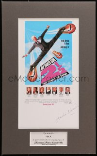 4x007 LESLIE NIELSEN signed 7x13 special poster in 11x18 display 1991 ready to hang on your wall!