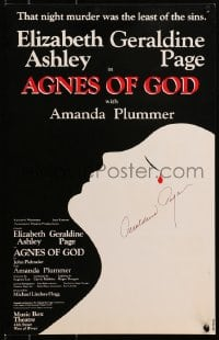 4x016 GERALDINE PAGE signed stage play WC 1982 in John Pielmeier's Agnes of God, Jim Warren art!