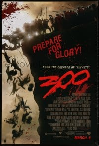 4z503 300 advance DS 1sh 2007 Zack Snyder directed, Gerard Butler, prepare for glory!