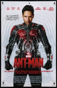 4z057 ANT-MAN 26x40 video poster 2015 Paul Rudd in title role, Michael Douglas, Evangeline Lilly!