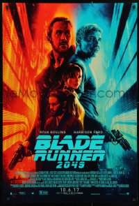 4z570 BLADE RUNNER 2049 advance DS 1sh 2017 great montage image with Harrison Ford & Ryan Gosling!