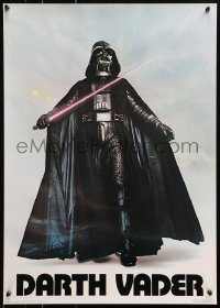 4z140 DARTH VADER 20x28 commercial poster 1977 Seidemann, the Sith Lord w/ lightsaber activated!