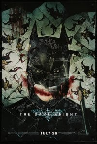 4z613 DARK KNIGHT wilding 1sh 2008 cool playing card montage of Christian Bale as Batman!