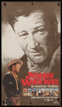 4z059 JOHN WAYNE AN AMERICAN TRADITION 21x36 video poster 1990 great art & image of The Duke!