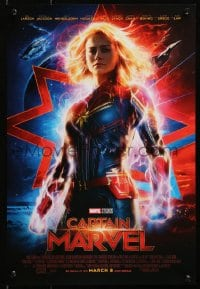 4z072 CAPTAIN MARVEL 2-sided mini poster 2019 incredible images of Brie Larson in the title role!