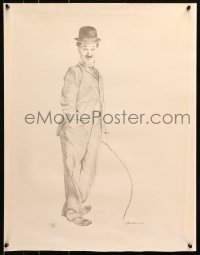 4z033 CHARLIE CHAPLIN signed #134/350 20x26 art print 1960s great pencil sketch!