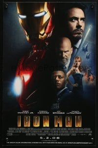 4z075 IRON MAN advance mini poster 2008 Robert Downey Jr. is Iron Man, cool image of suit!