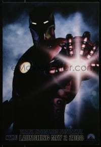4z076 IRON MAN teaser mini poster 2008 Robert Downey Jr. is Iron Man, cool image of suit!