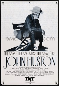4z066 JOHN HUSTON: THE MAN, THE MOVIES, THE MAVERICK tv poster 1989 great image of director!