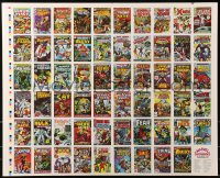 4z005 MARVEL SUPERHEROES FIRST ISSUE COVERS 2-sided 22x27 uncut trading card sheet 1984 many covers