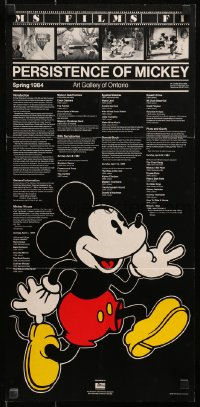 4z015 PERSISTENCE OF MICKEY 12x25 Canadian film festival poster 1984 Walt Disney, great images!