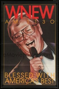 4z029 WNEW AM 1130 MEL TORME radio poster 1980s great art, blessed with America's best!