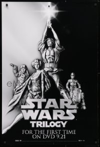 4z062 STAR WARS TRILOGY 27x40 video poster 2004 George Lucas, art of Hamill, Fisher, Ford!