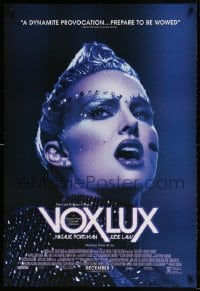 4z963 VOX LUX advance DS 1sh 2018 Jude Law, image of Natalie Portman as pop star singing on stage!