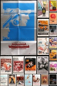 5a003 LOT OF 96 FOLDED ONE-SHEETS 1960s-1980s great images from a variety of different movies!