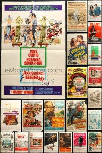 5a036 LOT OF 47 FOLDED ONE-SHEETS 1940s-1970s great images from a variety of different movies!